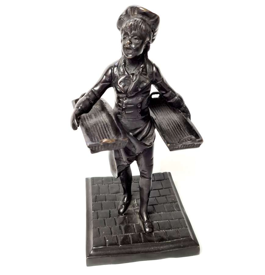 Bronze Figure of a Bakers Boy
