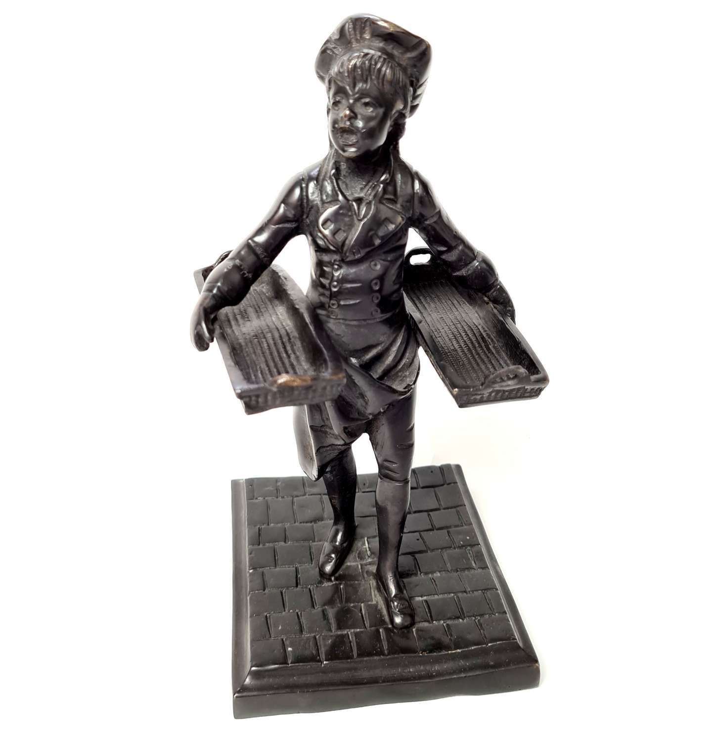 Bronze Figure of a Bakers Boy