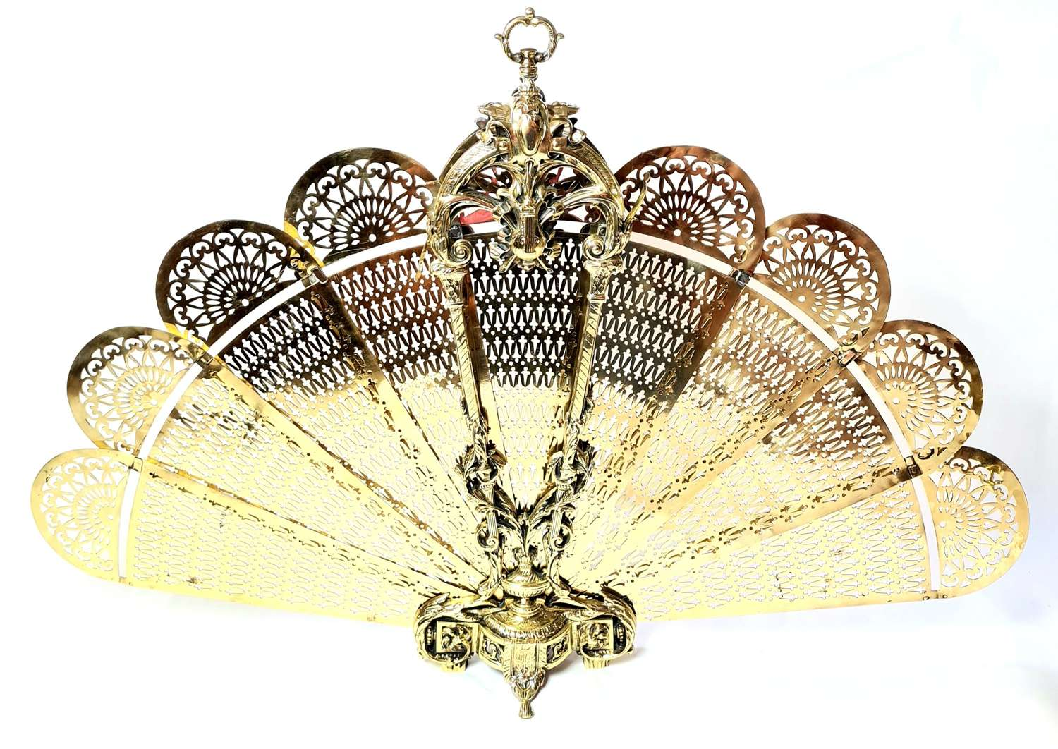 Brass 'Fan' Firescreen