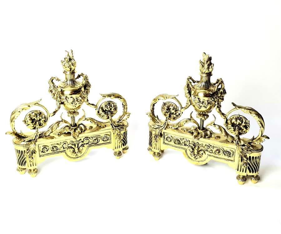 Pair of Louis XVI Firedogs