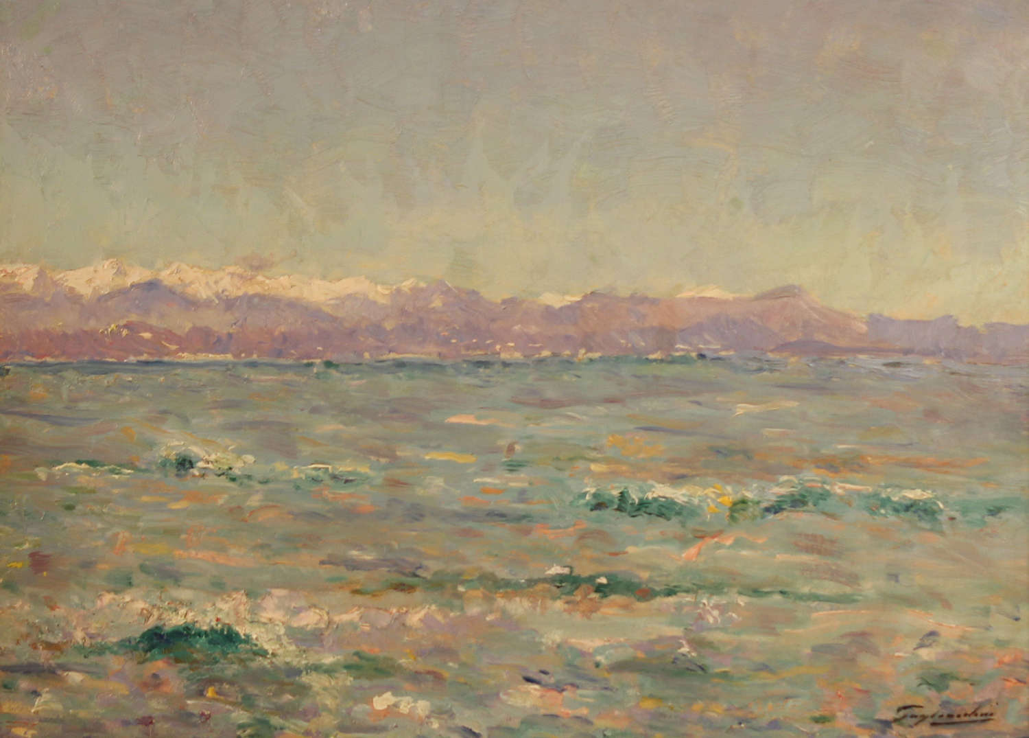 THE ALPS VIEWED FROM THE SEA ~ JULIEN GUSTAVE GAGLIARDINI
