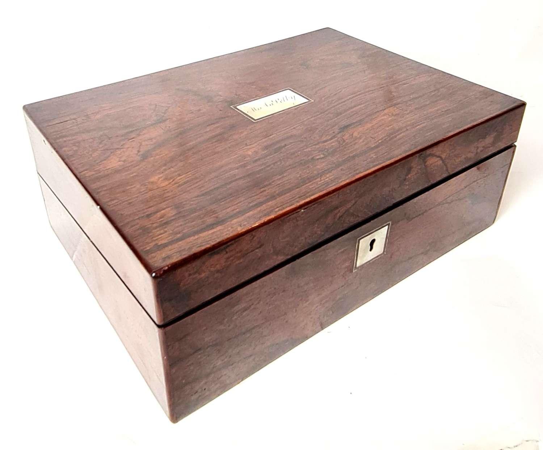 Victorian Rosewood Box