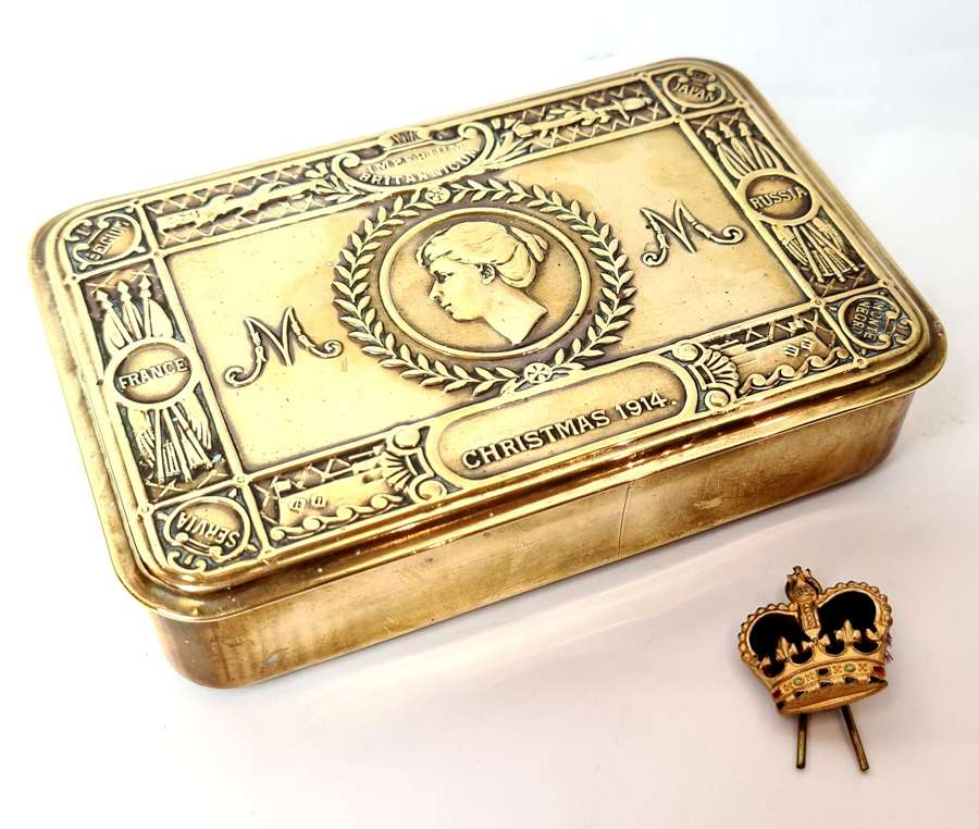 WWI Princess Mary Gift Tin and Pin