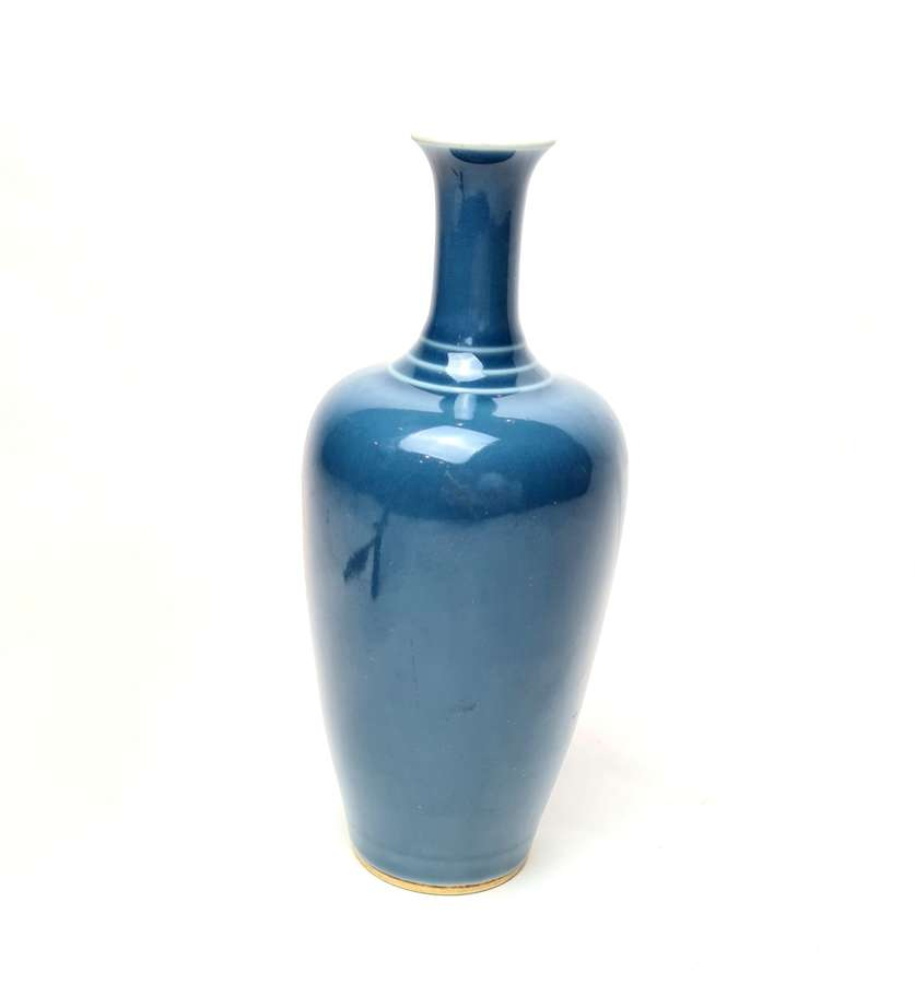 A Chinese Glazed Light Blue Vase
