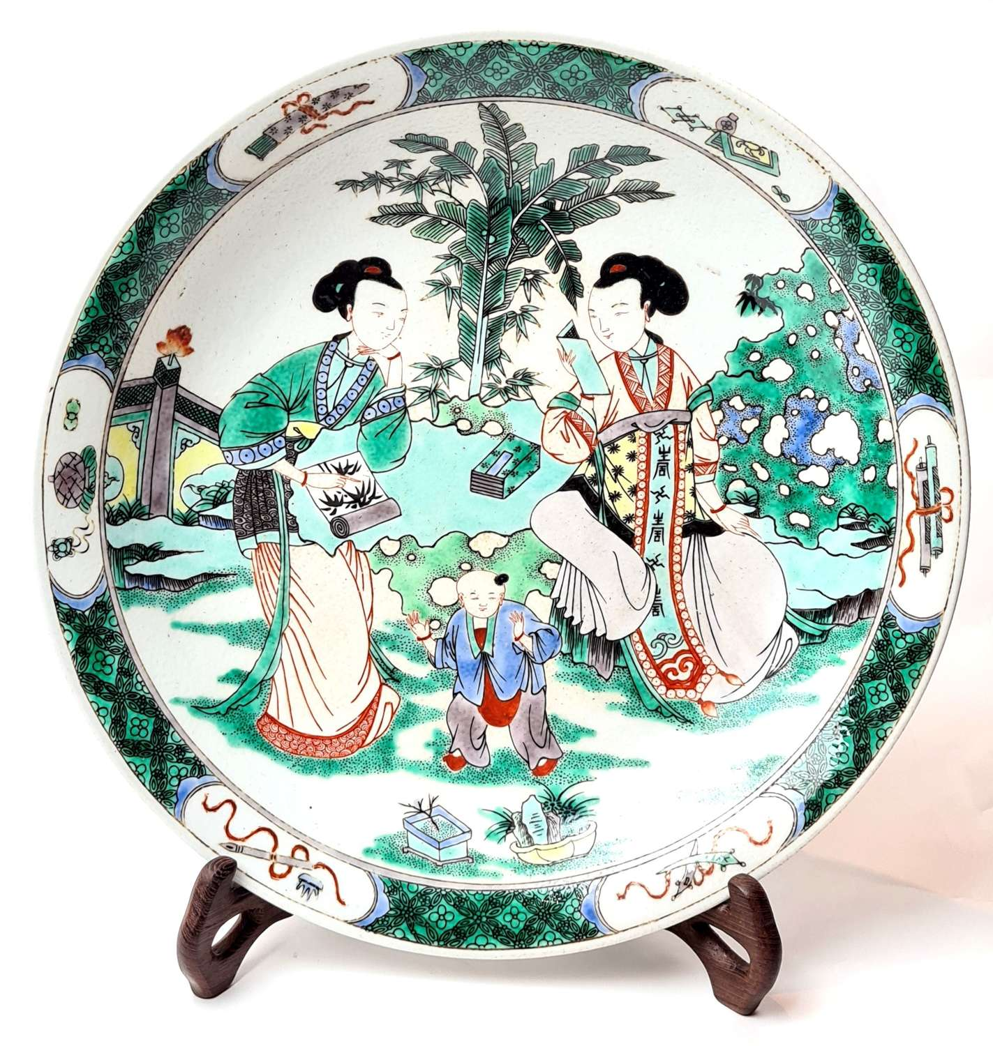 Chinese Famile Rose Plate