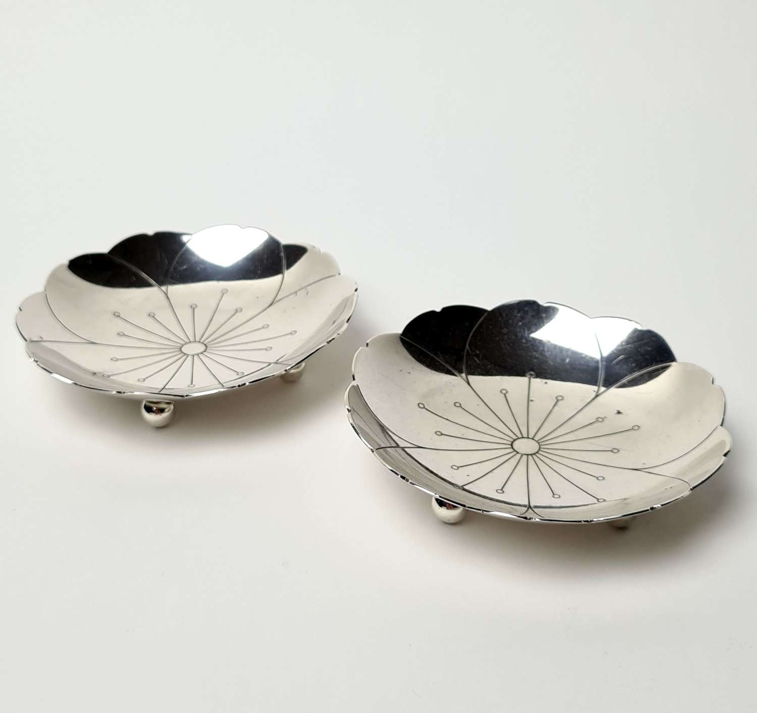 Pair of Silver Dishes