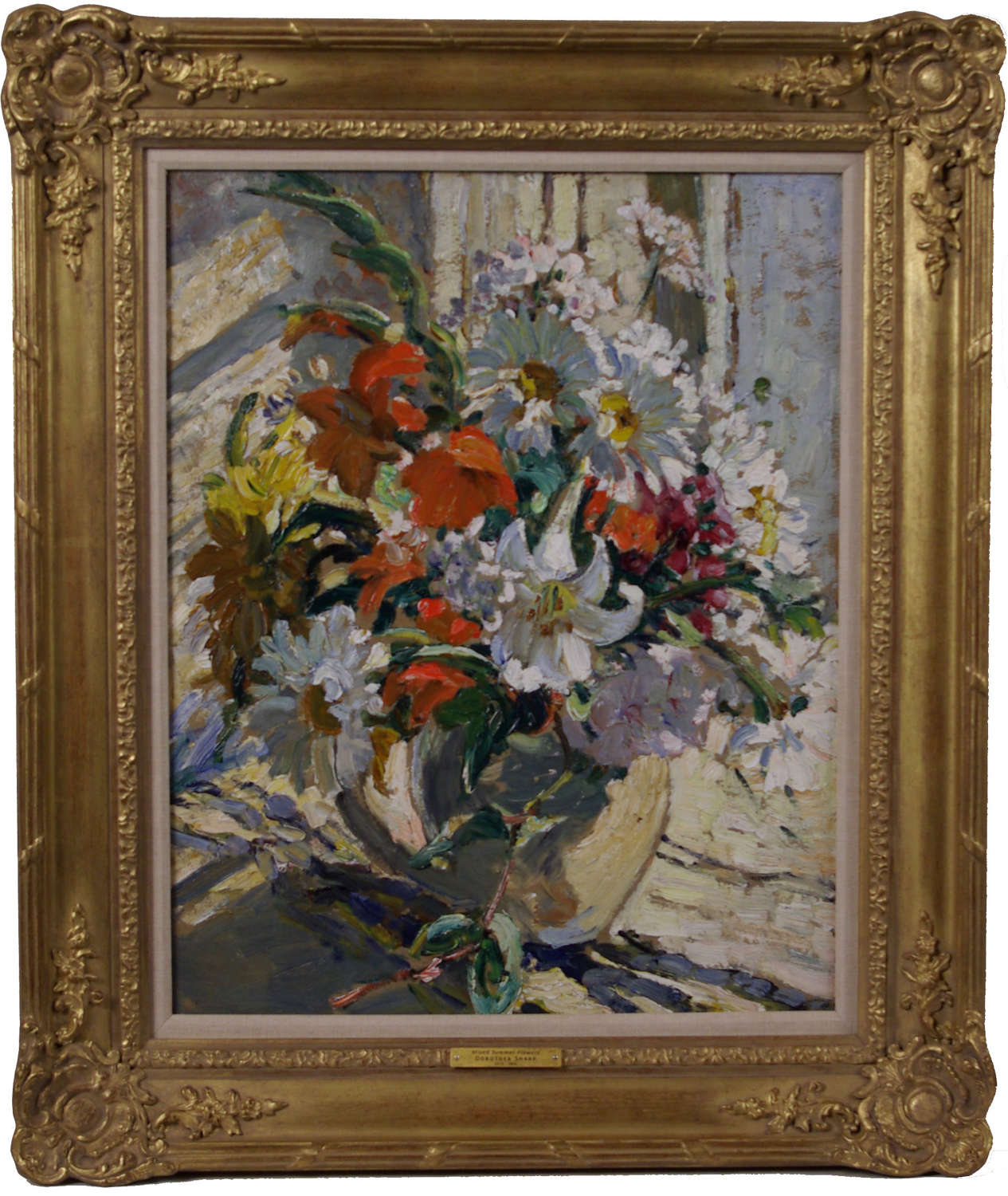 MIXED SUMMER FLOWERS IN A PITCHER ~ DOROTHEA SHARP