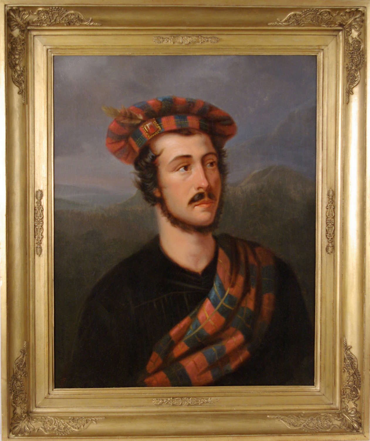 PORTRAIT OF A YOUNG MAN IN HIGHLAND LANDSCAPE ~J. LAWRENCE