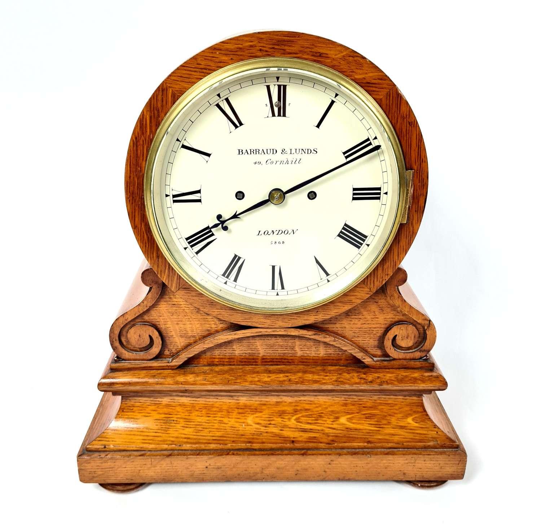 Grand Boardroom Oak Bracket Clock