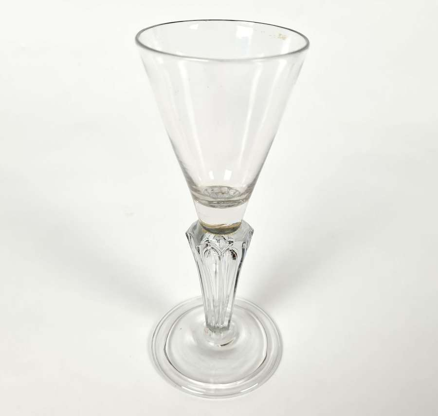 18th Century Trumpet Shaped Wine Glass