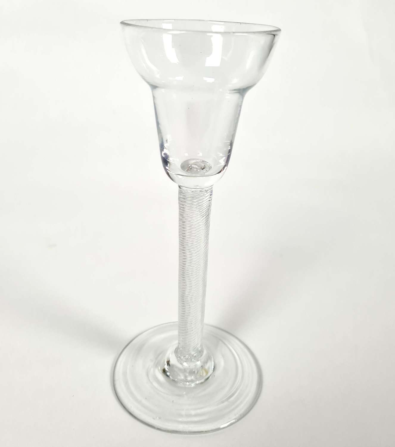 18th Century Pan Topped Wine Glass