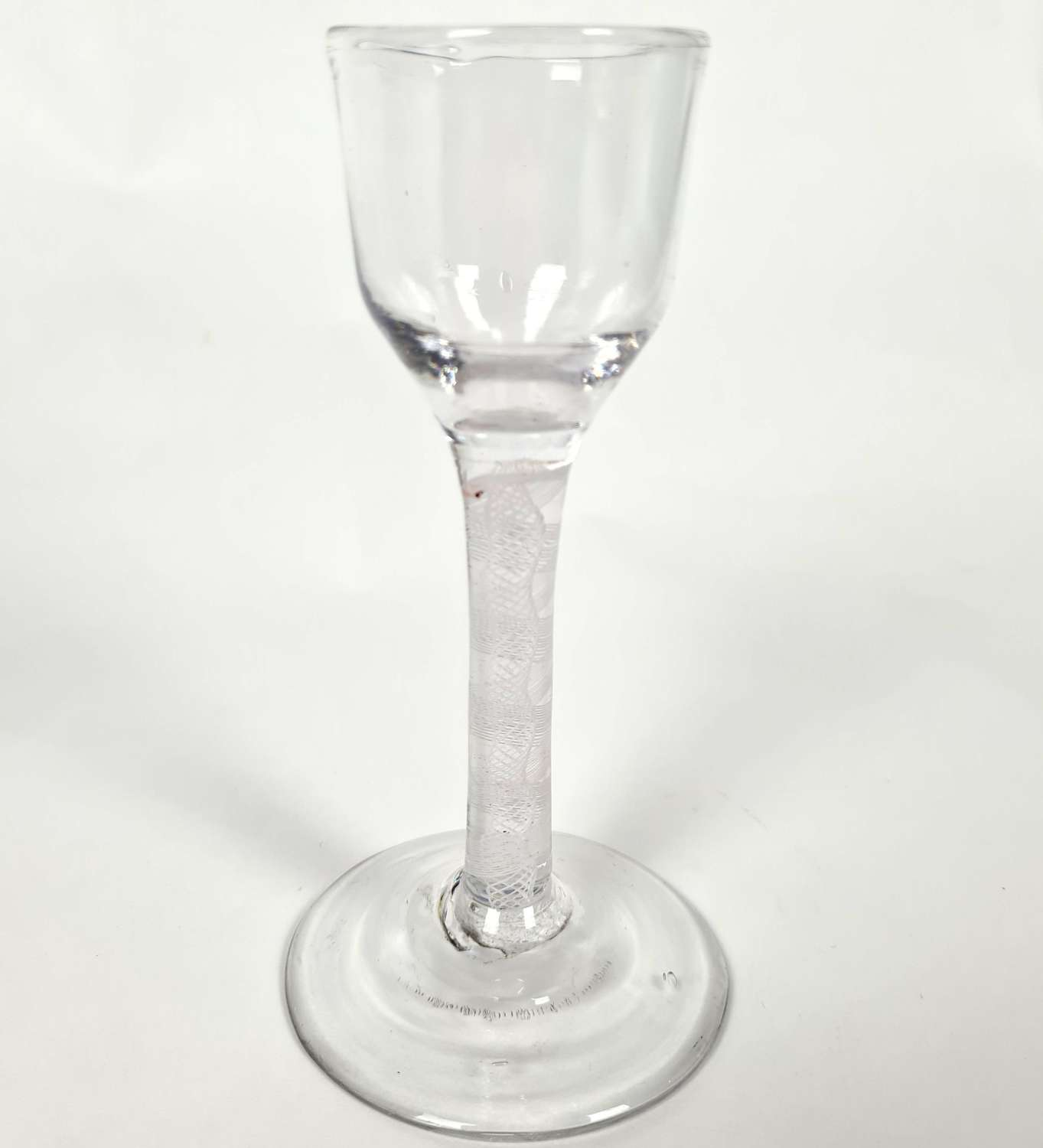 18th Century Wine Glass Ogee Shaped Bowl