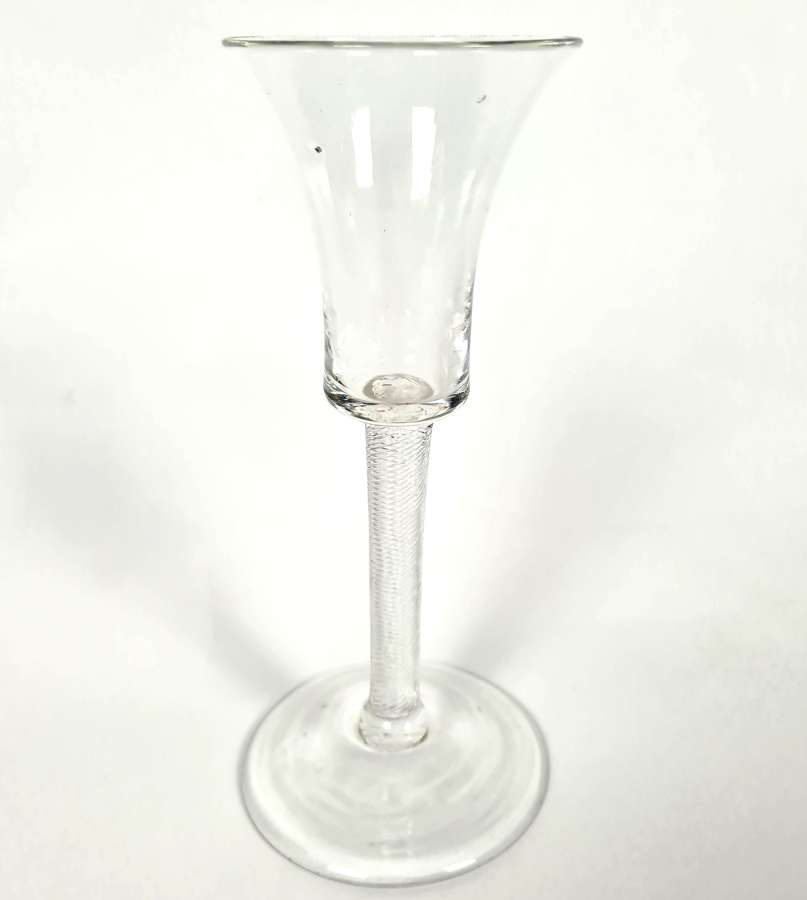 18th Century Wine Glass with Waisted Bucket Bowl