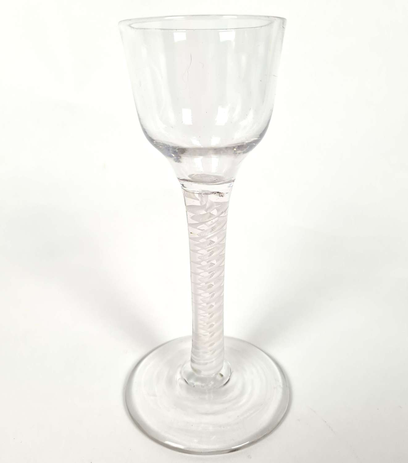 18th Century Wine Glass with Opaque Twist