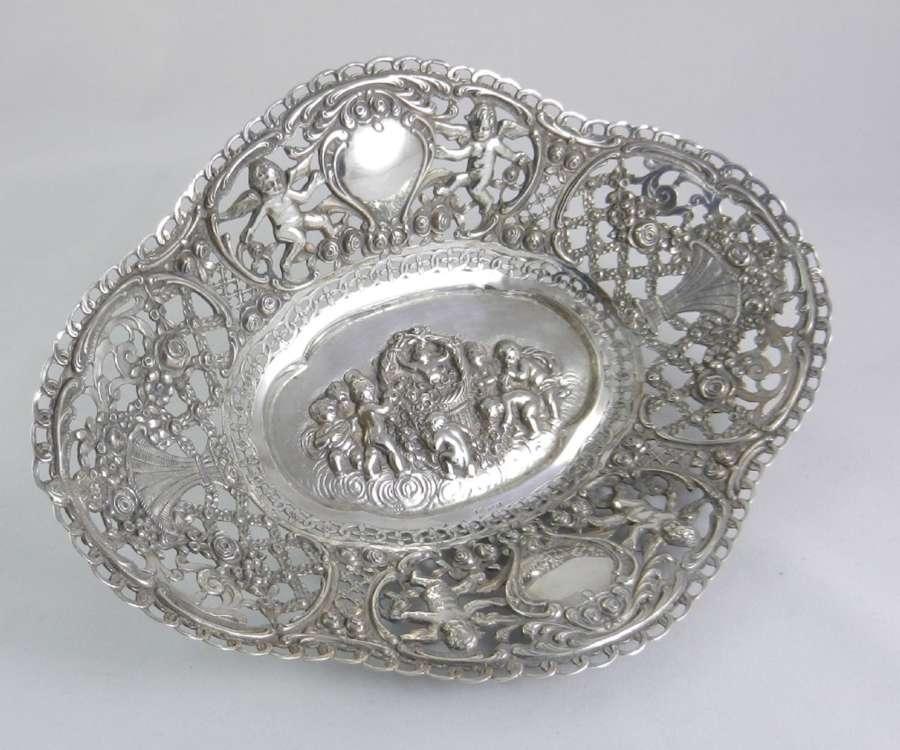 Antique Silver Dish.