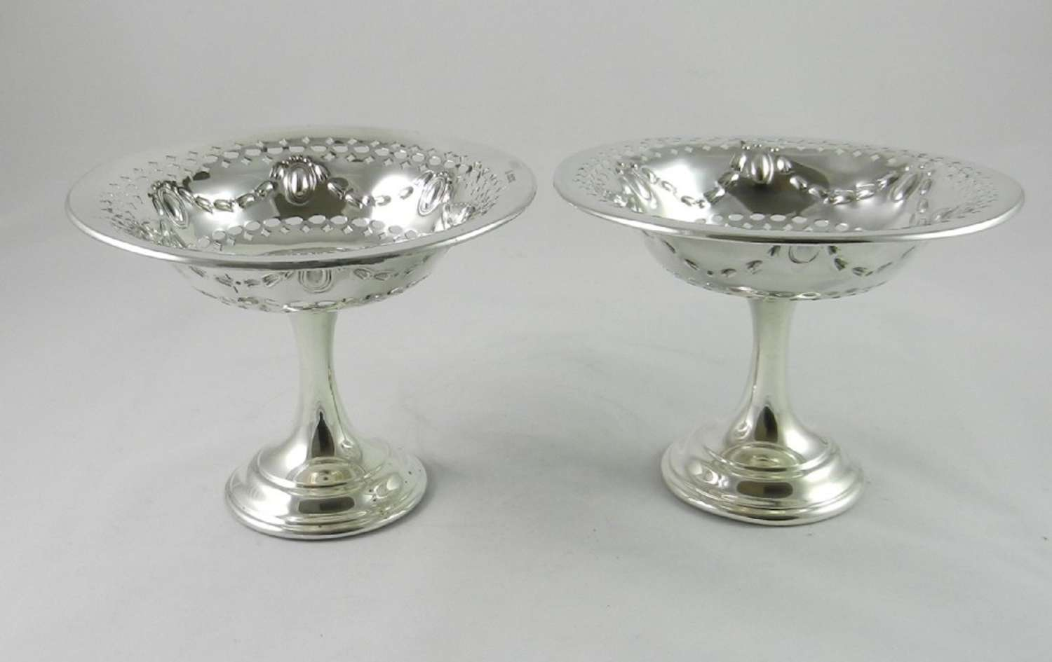 Antique Silver Sweetmeat Stands