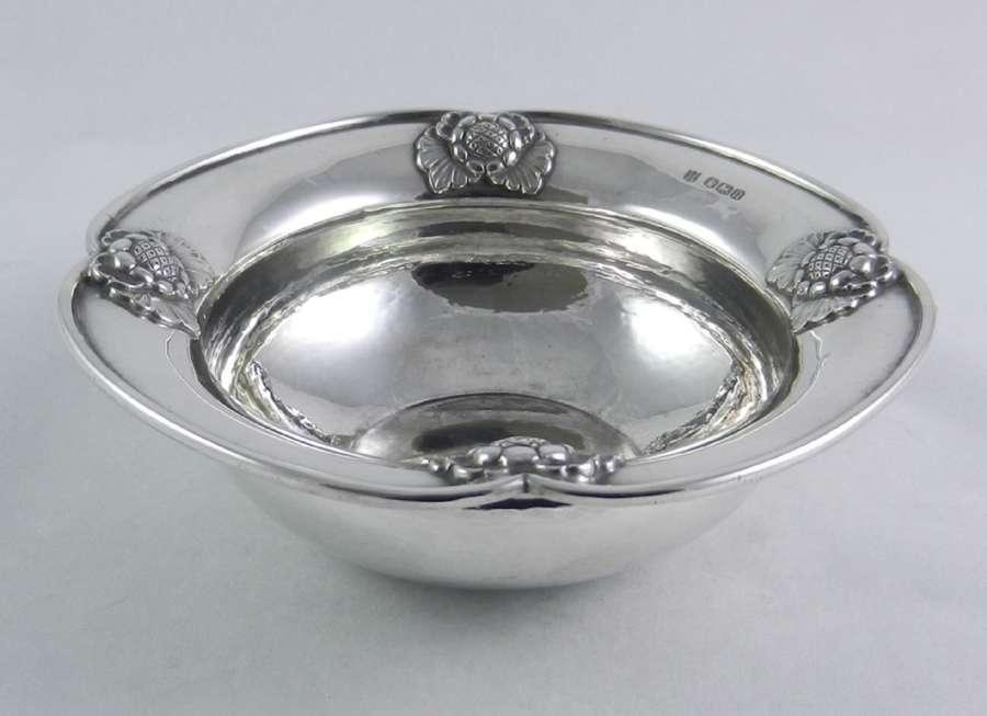 Art Nouveau Pattern Silver Bowl