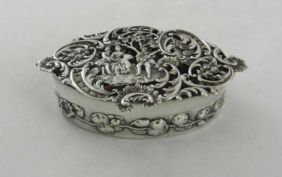 Antique Silver Pot Pourri Box