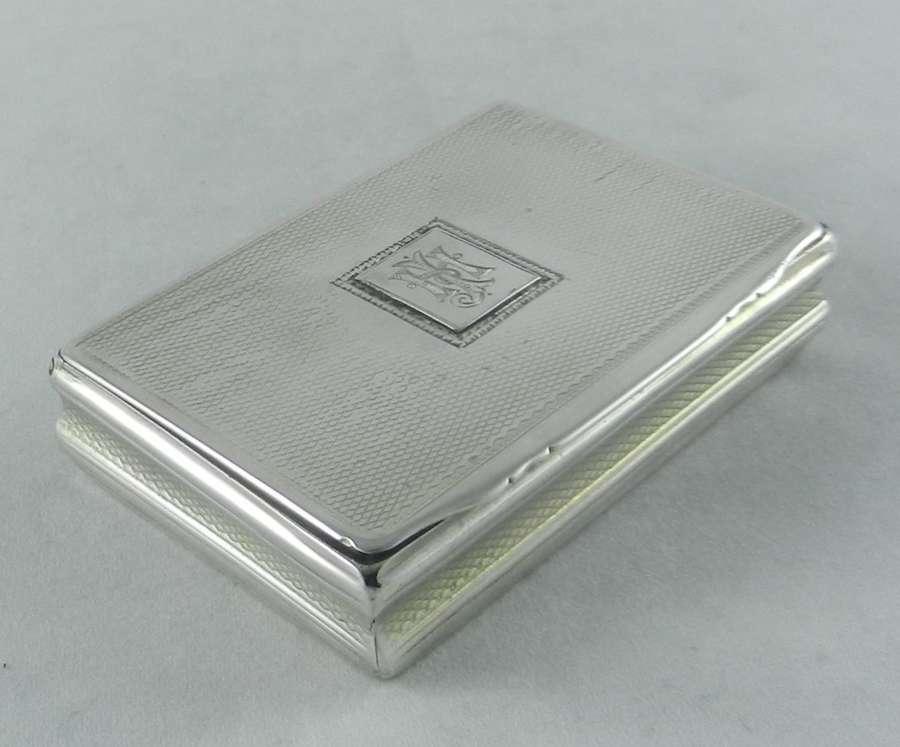 Scottish Georgian Silver Snuff Box