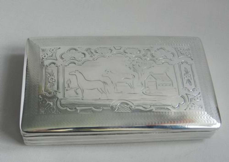 Antique Silver Tobacco Box