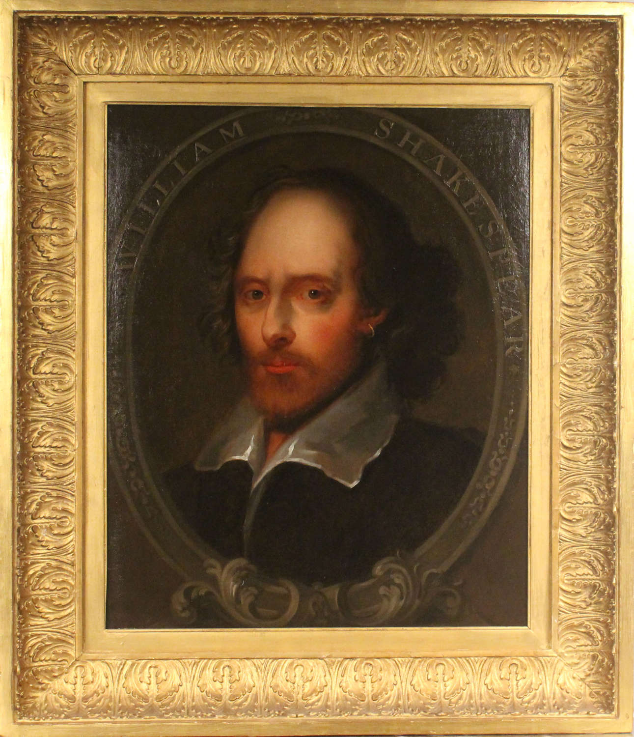 PORTRAIT OF WILLIAM SHAKESPEARE ~ BRITISH SCHOOL