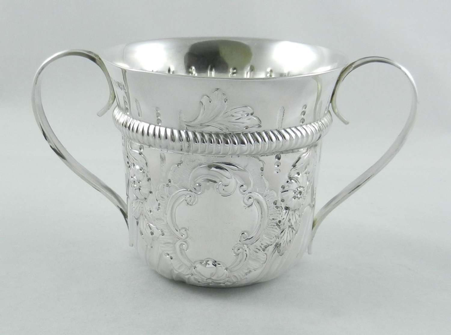 Antique Silver Porringer