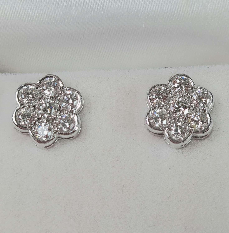 Diamond Cluster Earrings