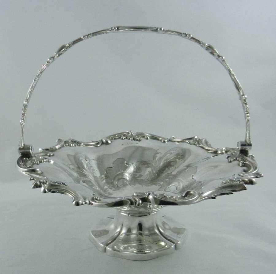 Antique Silver Cake Basket