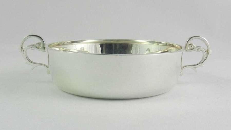 Silver Wine Taster Bowl.