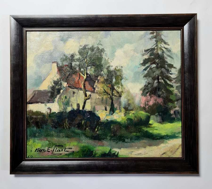 Max . E . Claxton Farmhouse Landscape