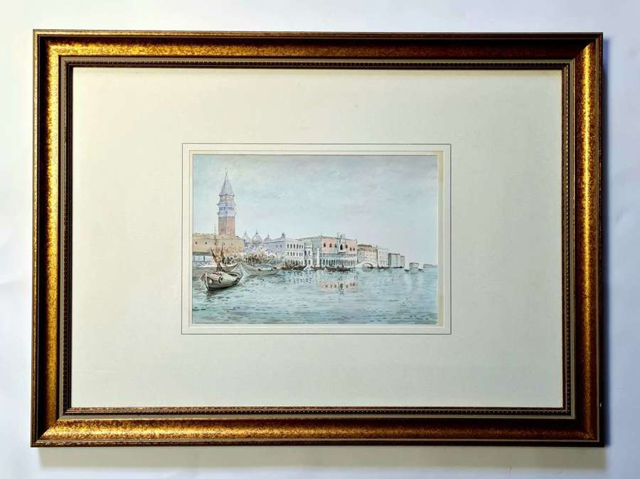 Watercolour of a View of Venice
