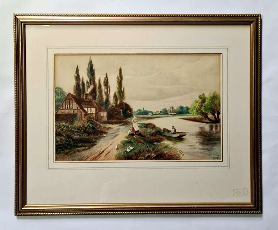 Watercolour of the Thames