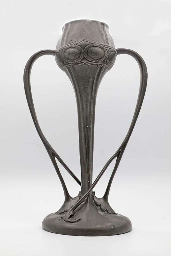 Liberty and Co Tudric Oliver Baker pewter vases