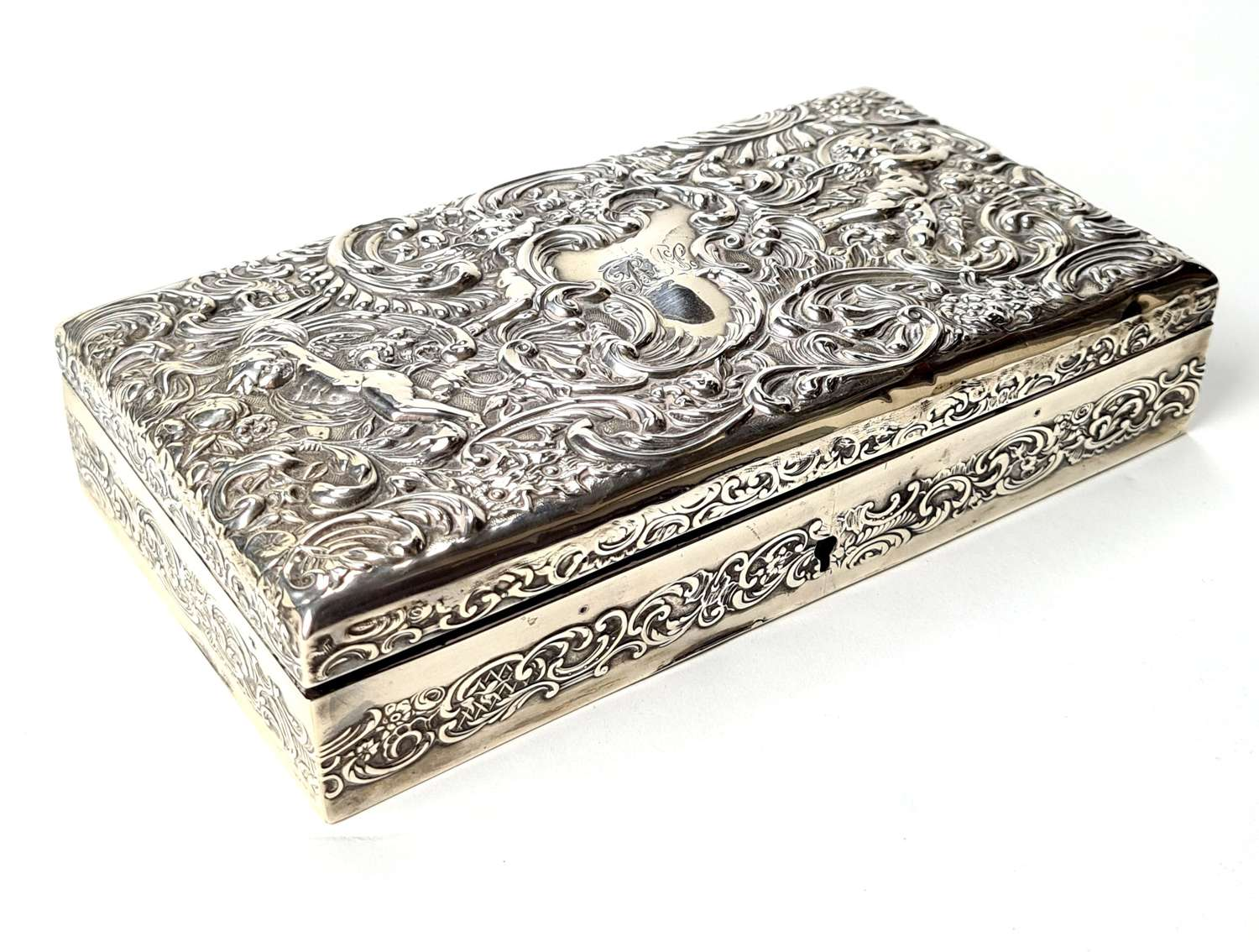 Silver Fitted Jewellery Box