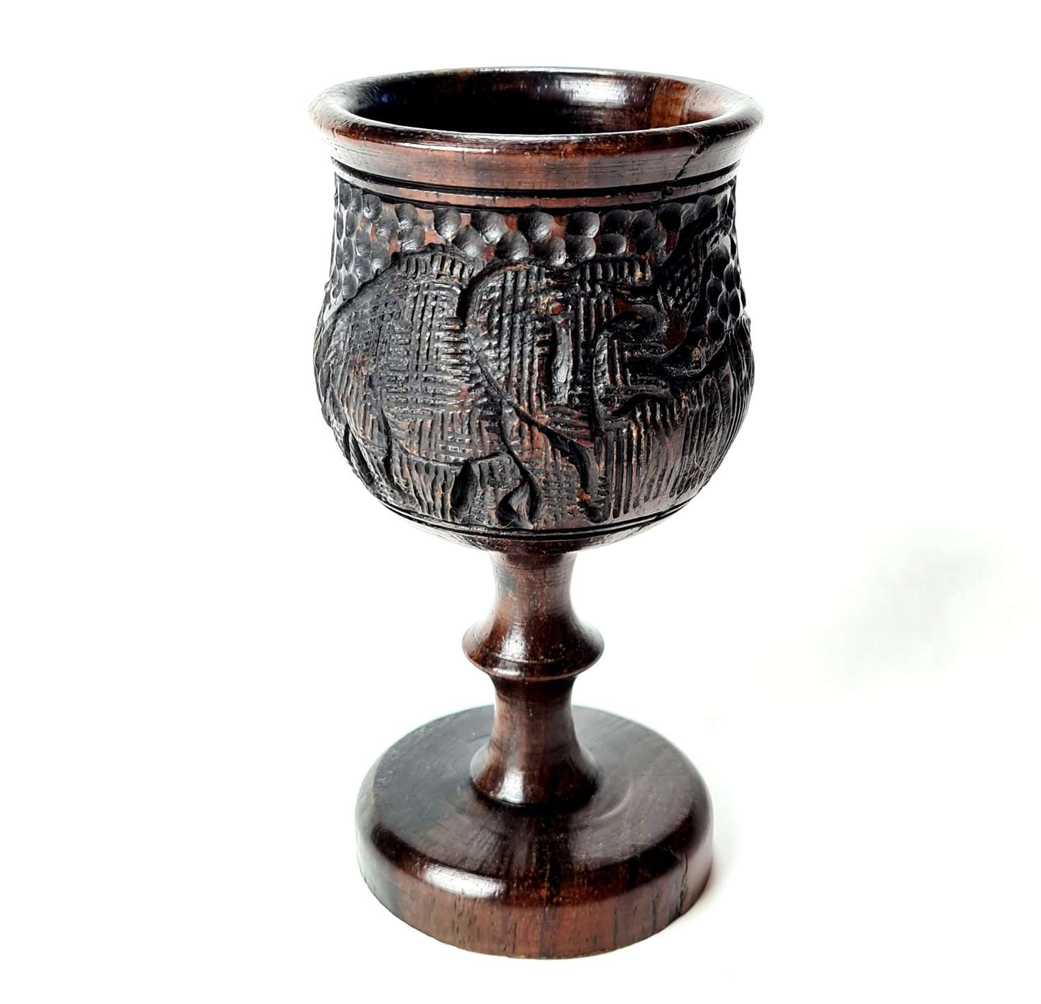 African Carved Goblet