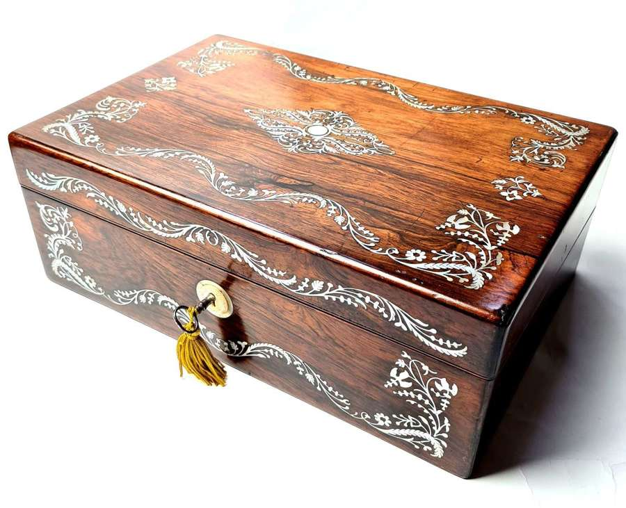 Lovely Rosewood Writing Slope