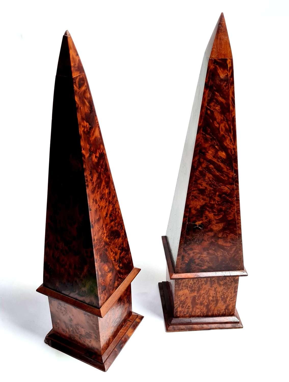 Pair of North African Obelisks