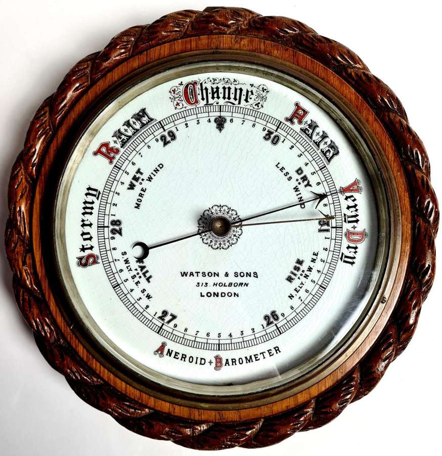 Oak Cased Barometer