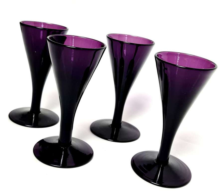 Four Amethyst Glasses