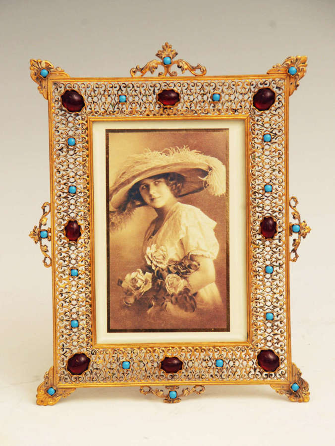 Pierced Brass Picture Frame