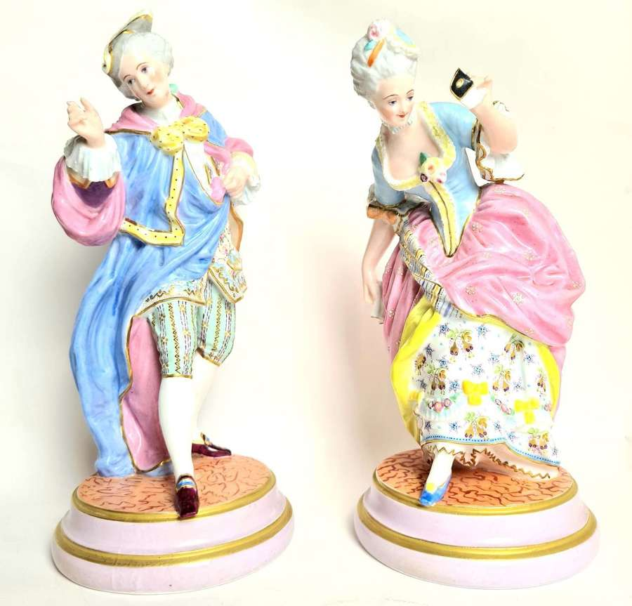 Pair of Limoges Figures