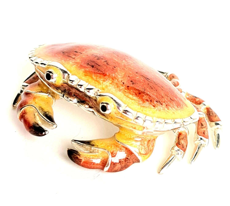 Silver and Enamel Crab