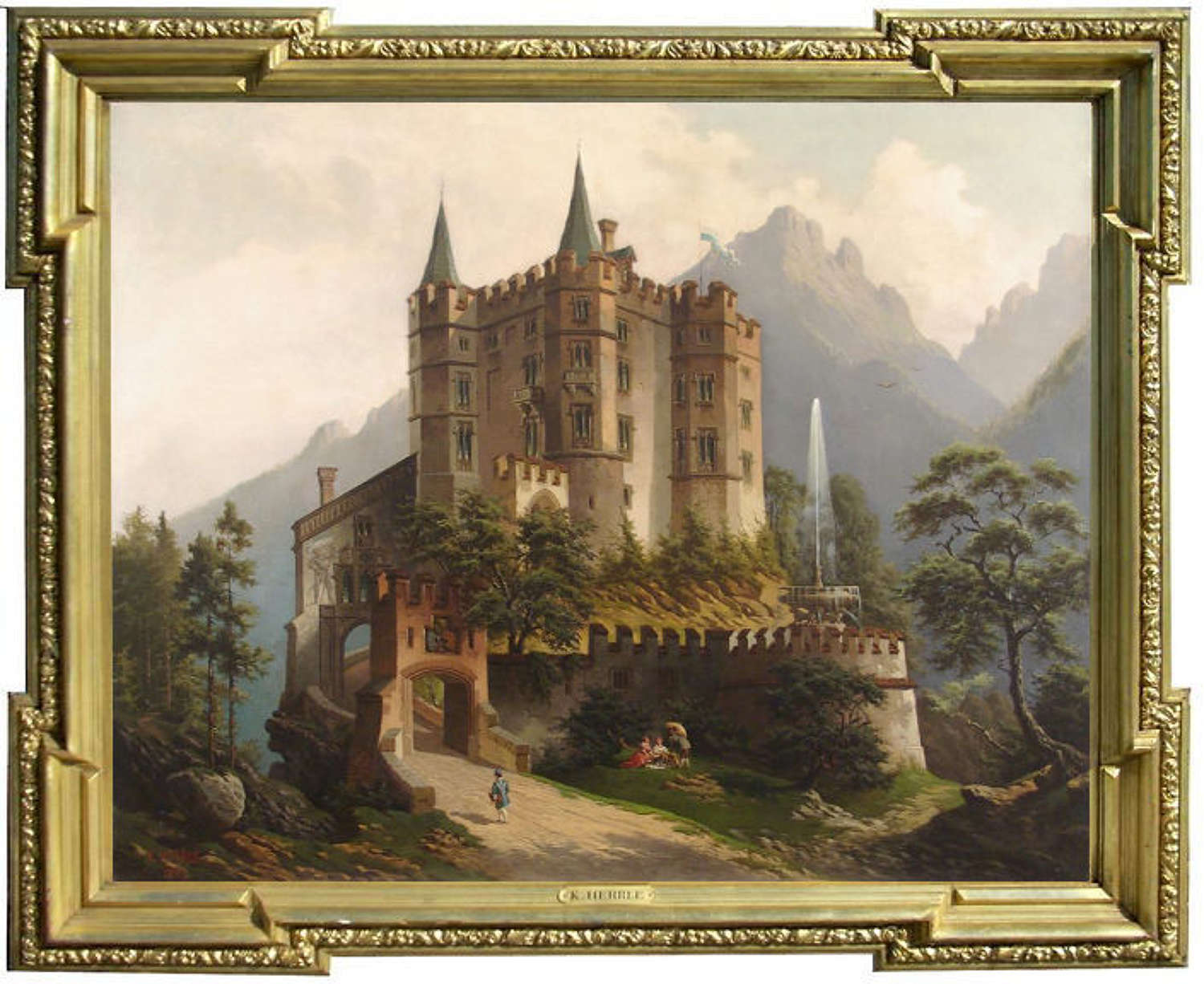 A Bavarian Castle in the Mountains ~ Karl Herrle