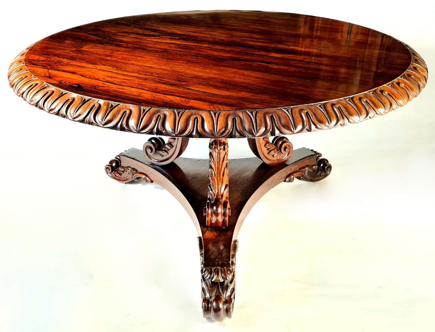 A Magnificent Regency Rosewood Circular Table