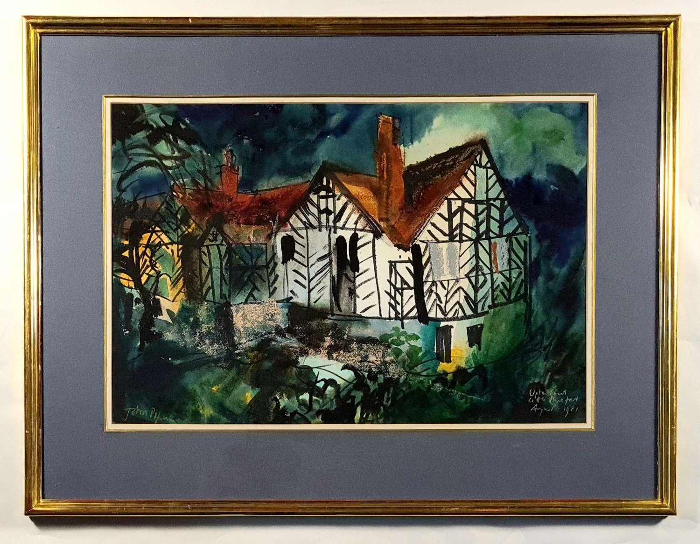 John Piper (1903-1992) 'Upton Court, Little Hereford'
